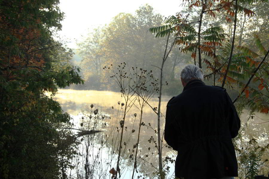 Piet Oudolf in the White Clay Creek Preserve, Pennsylvania (photo by Rick Darke)